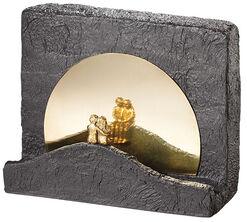 """Skulptur """"Stille"""", Bronze mit Kunststein"""