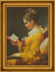 """Bild """"Die Lesende"""" (1770-72), gerahmt"""
