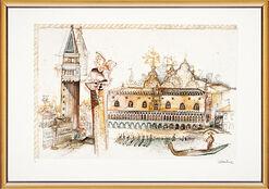 "Bild ""Venedig, Dogenpalast"", gerahmt"