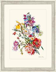"""Bild """"Sommerblume mit Iris und Pfingstblume"""", 1971, gerahmt"""