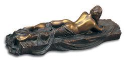 """Skulptur """"Liegender Akt mit Tuch I"""", Version in Bronze"""