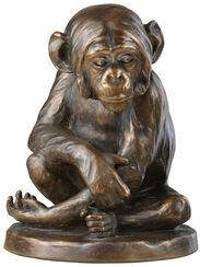 """Skulptur """"Schimpanse"""" (1896), Version in Steinguss bronziert"""