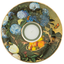 """Teelicht """"Hortensien"""", Porzellan"""