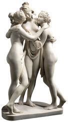 """Skulptur """"Drei Grazien"""" (1813-1816), Reduktion in Kunstmarmor"""