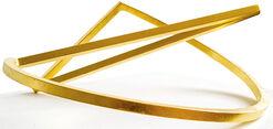 "Skulptur ""Schleife 38 - Gold Edition"" (2015)"