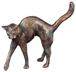 """Skulptur """"Der verliebte Kater"""" (2004), Bronze"""