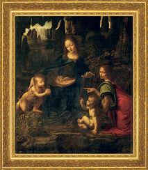 """Bild """"Madonna in der Felsengrotte"""" (1483-1486), gerahmt"""