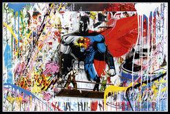 "Bild ""Batman vs. Superman"" (2016) (Unikat)"