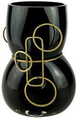 "Vase ""Primavera Black"", Glas/Zinn"