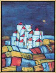 """Bild """"Little Town - Kleine Stadt"""", gerahmt"""