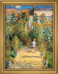"""Bild """"Le Jardin de Monet à Vétheuil"""", gerahmt"""