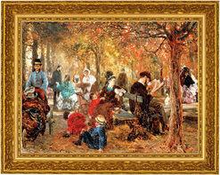 "Bild ""Im Jardin de Luxembourg"" (1876), gerahmt"