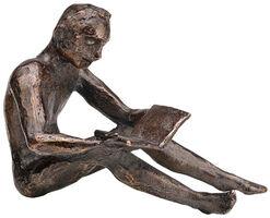 "Skulptur ""Buchleser"", Metallguss"