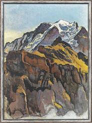 """Bild """"Jungfrau von Mürren aus"""" (1911), gerahmt"""