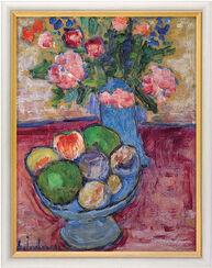 """Bild """"Die blaue Vase"""", gerahmt"""