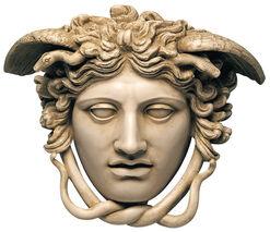 "Phidias: Relief ""Haupt der Medusa"" (Originalgröße), Kunstmarmor"