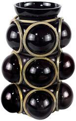 """Vase """"Charming Black"""", Glas/Metall"""