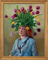 """Bild """"Frühlingsflora"""" (2008) (Original / Unikat), gerahmt"""