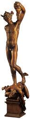 "Skulptur ""Perseus mit dem Haupt der Medusa"", Kunstbronze"