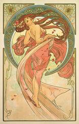 """Glasbild """"Der Tanz"""" (1898)"""