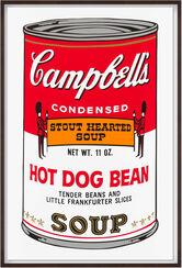"Bild ""Warhols Sunday B. Morning - Campbell´s Soup - Hot Dog Bean"" (1980er Jahre)"