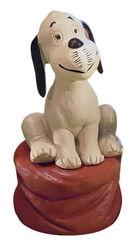 """Skulptur """"Wum"""", Version in Steinguss handbemalt"""