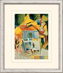 """Bild """"Innenhof des Landhauses in St. Germain"""" (1914), gerahmt"""