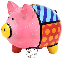 "Sparschwein ""Patterned Pig"", Kunstguss"