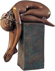 "Skulptur ""La Spina"" (1999), Bronze auf Sockel"