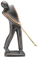 "Skulptur ""Golfer"" (puttend), Bronze"