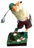 "Sportler-Karikatur ""Der Golfer"", Kunstharz"