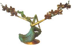 "Skulptur ""Orchid at Dawn"", Bronze"
