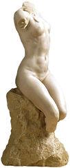 """Skulptur """"Torso einer Frau"""" (1895), Version in Kunstmarmor"""