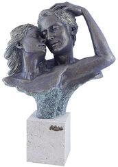 """Skulptur """"Complicity"""", Kunstguss Steinoptik"""