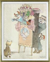 """Bild """"Der Puppenspieler"""", gerahmt"""