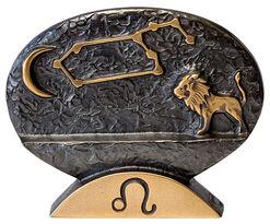"""Sternzeichen-Skulptur """"Löwe"""" (23.7.-23.8.), Bronze"""