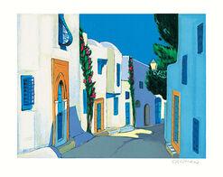"""Bild """"Ombre et lumière à Sidi bou Said"""" (2001), ungerahmt"""