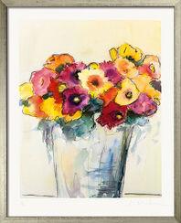 """Bild """"Blumen in der Vase"""", gerahmt"""