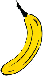 "Wandobjekt ""Cut Out Banane"""