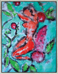 "Bild ""Rêves de cercises"" (2004) (Original / Unikat), gerahmt"
