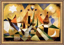 """Bild """"Segelschiffe den Sturm abwartend"""" (1917), gerahmt"""