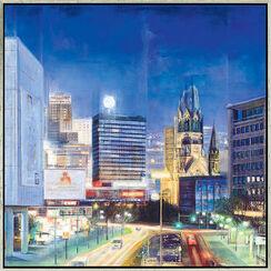 "Bild ""Berlin by Night"" (2008), gerahmt"