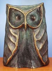 """Skulptur """"Der Uhu - Vogel der Weisheit"""", Bronze"""