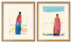"""2 Bilder """"Stehende Gestalt"""" und """"Gestalt unter blauem Himmel"""" (2002) im Set"""