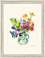 "Bild ""Sommerblumen im Glaskrug"", 1969, gerahmt"