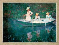 """Bild """"Die Barke in Giverny (En norvégienne)"""" (um 1887), gerahmt"""