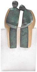 """Skulptur """"Trautes Paar"""", Bronze auf Steinguss"""