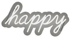 """Neon Leuchtkunst """"Happy"""", dimmbar"""