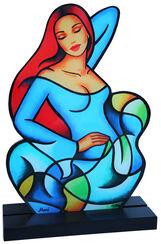 """Skulptur """"Blue Wave"""", Acrylglas"""