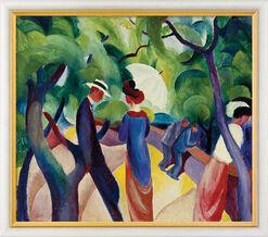 "Bild ""Promenade"" (1913), gerahmt"